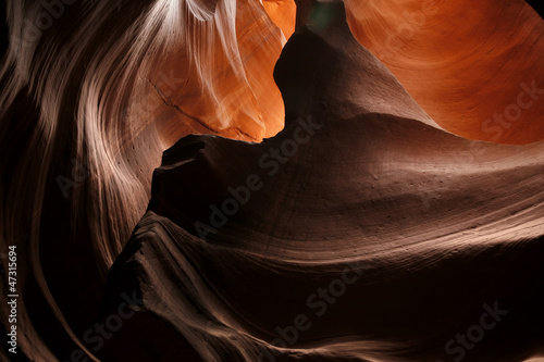 amazing colorful eroded rock of Lower slot canyon, Antelope Vall