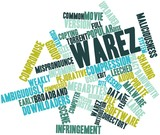 Word cloud for Warez