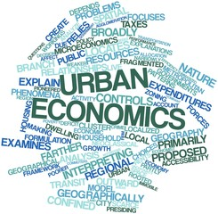 Word cloud for Urban economics
