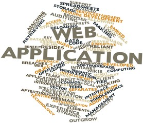 Word cloud for Web application
