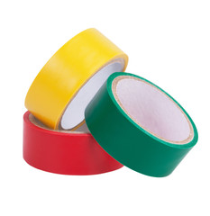 Colorful skeins of adhesive tape