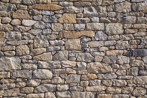 Leinwandbild Motiv Natursteinmauer
