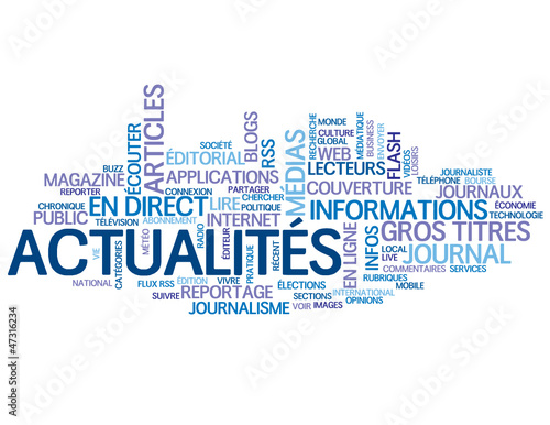 "Nuage de Tags ""ACTUALITES"" (informations bouton médias direct)"