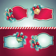 christmas vintage decorative label set