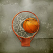 Basketball icon, old-style