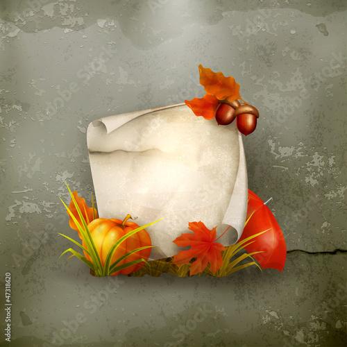 Autumn frame, old-style