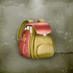 School bag, old-style