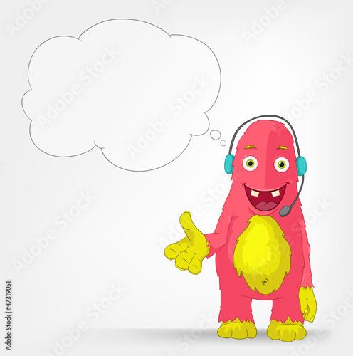 Funny Monster. Communication.