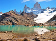 Landscape with Fitz Roy in Patagonia, Argentina, South America