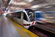 Fast LRT train in motion, Kuala Lumpur