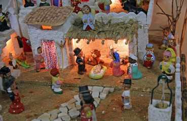 Crib with the nativity scene