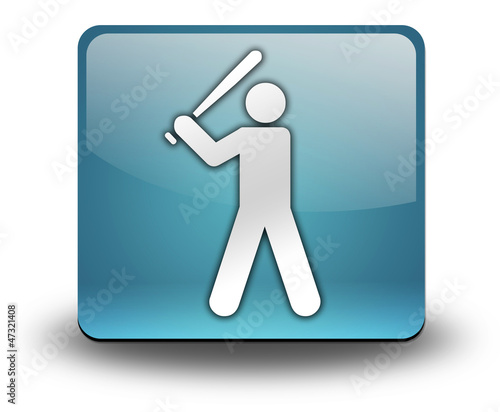 "Light Blue 3D Effect Icon ""Baseball"""
