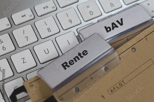 Leinwandbild Motiv Rente und bAV