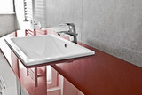 Red lavabo board closer