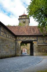 Rothenburg ob der Tauber,porta d'ingresso bastia dell'ospedale-1