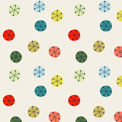 vector illustration of colorful round flakes pattern