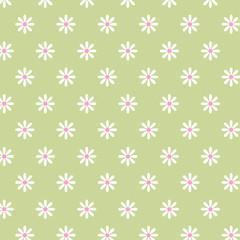 vector illustration flowers pattern, green background