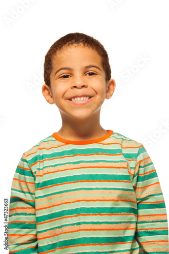 Portrait of smiling black boy