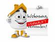 Kleines 3D Haus Orange - Wohnung zu verkaufen! - Verkauft