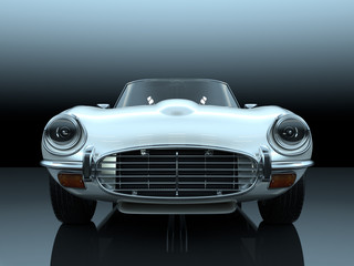 vintage luxury sport sedan 3d rendering
