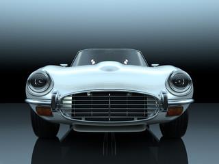 vintage luxury sport sedan 3d rendering