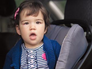 Surprised in Car Seat