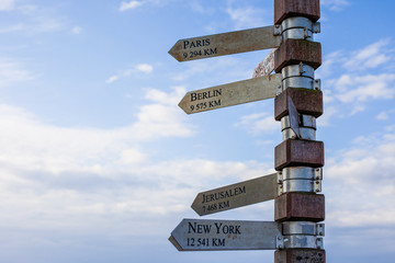 Signpost at Cape Point