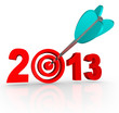 2013 New Year Arrow in Number Target
