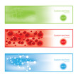 Molecule colorful background banners