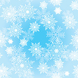 Seamless background with snowflakes_3