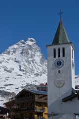 church under the matterhorn