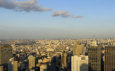 Abendpanorama in Sao Paulo