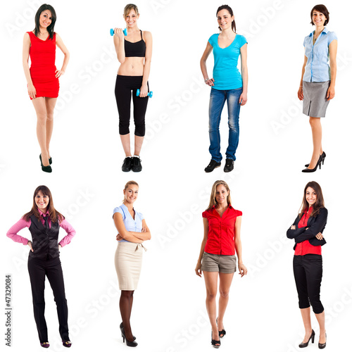Women full length portraits