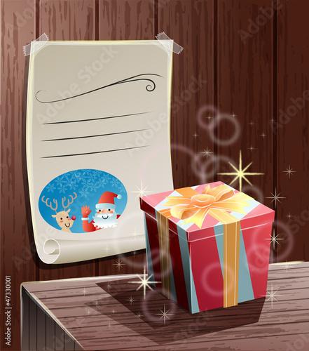 サンタクロースからのプレゼントとメッセージ