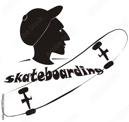 Silhouette - skateboarding
