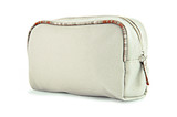 Light brown fabric toiletry or cosmetic bag poster