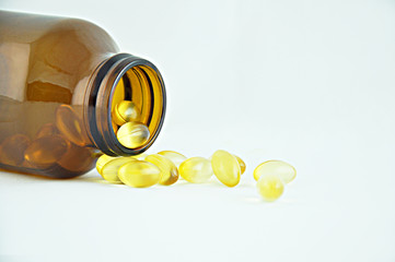 Omega3 capsules from the bottle