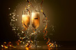 Glasses of champagne at new year party - 47331260