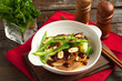 stir fried beef with garlic and string beans