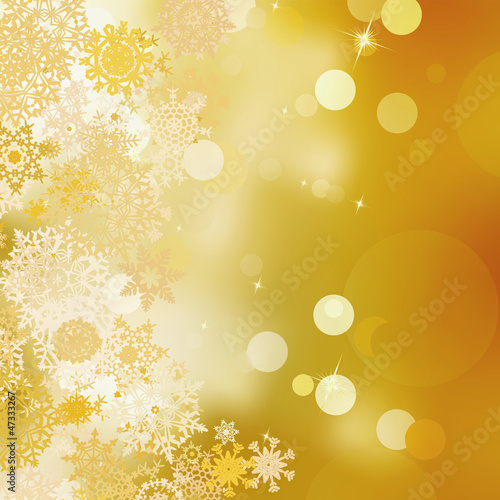 Golden christmas background. EPS 8