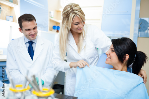 preparation of a dentist treatment