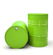 Green Metal barrels isolated on white background illustration