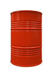 Red Metal barrel isolated on white background illustration