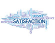 """SATISFACTION"" Tag Cloud (quality customer service experience)"