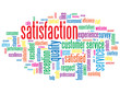 """SATISFACTION"" Tag Cloud (customer service quality experience)"