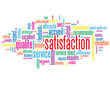 """Nuage de Tags """"SATISFACTION"""" (qualité garantie service client)"""