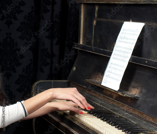 Pianist musician piano music playing