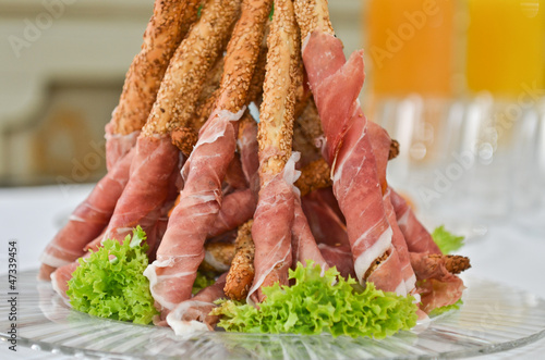 Closeup piramide antipasto