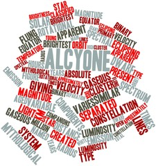 Word cloud for Alcyone
