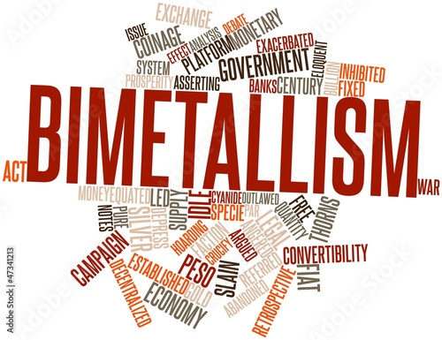 Word cloud for Bimetallism